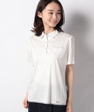 【ROCHAS Premiere】ラメラインポロシャツ