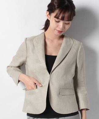 麻コンパクトジャケット