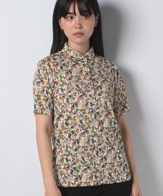 【ROCHAS Premiere】ポロシャツタイプ半袖ブラウス