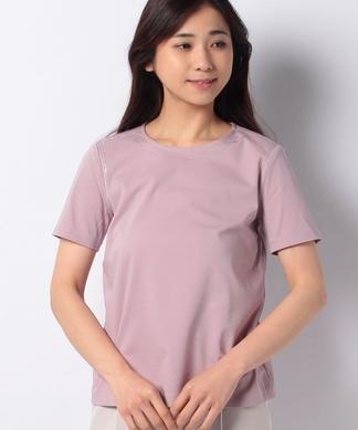 ラインストーン×クルーネックTシャツ