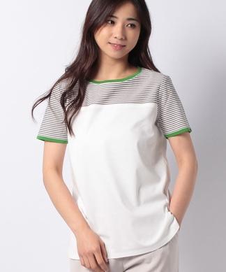 ボーダー×配色Tシャツ