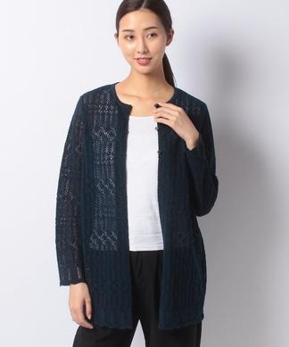 柄編みカ-ディガン