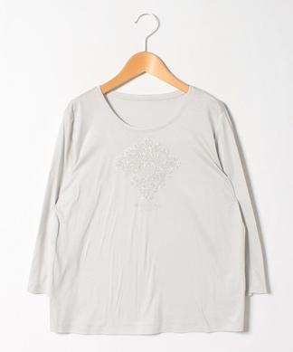 【ROCHAS Premiere】7分袖刺繍カットソー