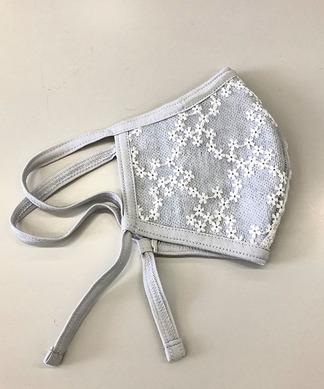【洗える】小花チュールマスク