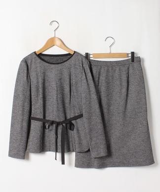 【特別提供品】ブラウス×ミディ丈スカートセットアップ