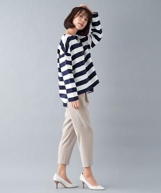 【my perfect wardrobe】ボーダー柄長袖カットソー