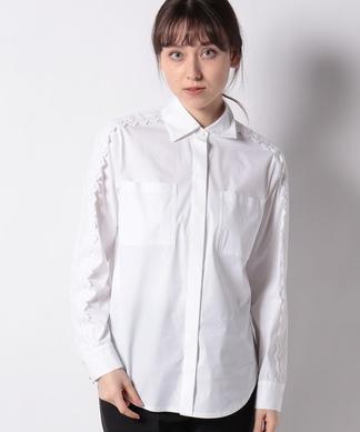 【SOMELOS】肩レースシャツ
