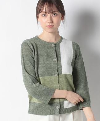 【HAND】麻ニットカーディガン