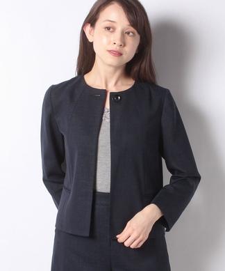 【セットアップ対象商品】麻混ノーカラージャケット