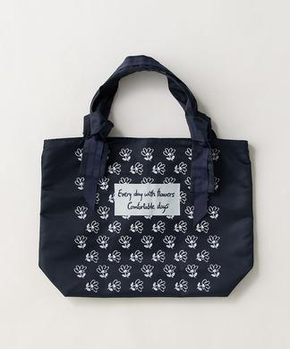 【ハロー・マイドレス】ナイロンフラワープリントバッグ