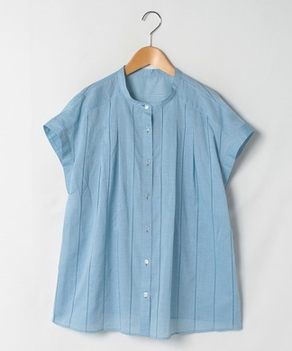 【ROCHAS Premiere】タックバンドカラーシャツ