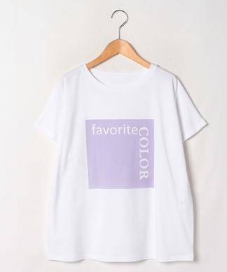 カラーボックスロゴTシャツ