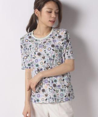 プリント半袖Tシャツ