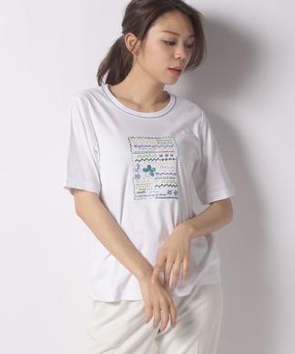 ステッチ刺繍Tシャツ