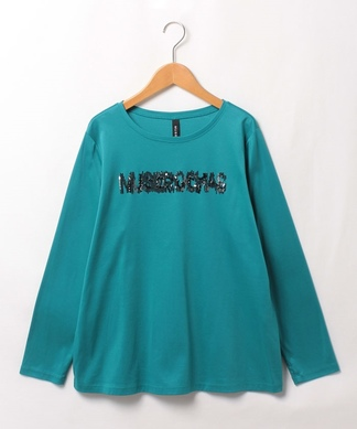 【MUSE BY ROCHAS Premiere】スパンコールロゴロングTシャツ