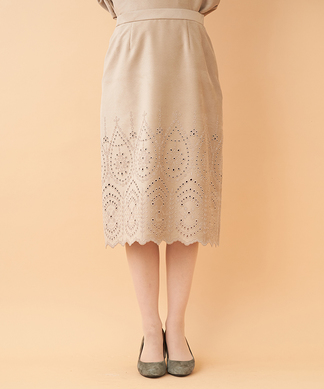 【セットアップ対応商品】スエード調スカート