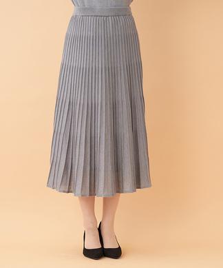 【セットアップ対応商品】ニットプリーツスカート