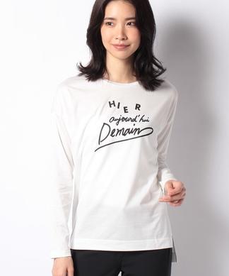 【Leilian WHITE LABEL】プリントTシャツ