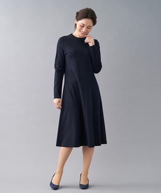 【my perfect wardrobe】ハイネックフレアワンピ-ス