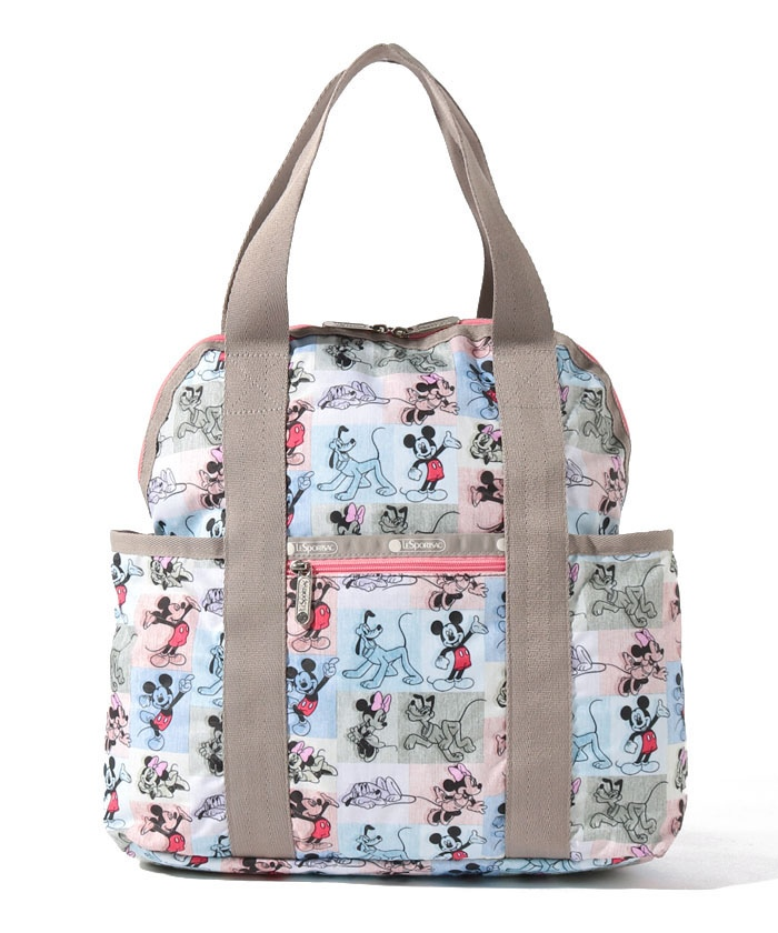 DOUBLE TROUBLE BACKPACK ミッキー パッチワーク
