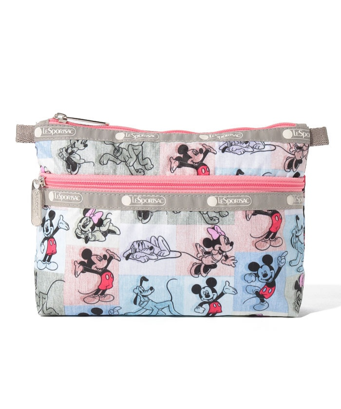 COSMETIC CLUTCH ミッキー パッチワーク