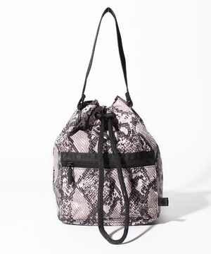 HANDLE DRAWSTRING BAG オフィディアン
