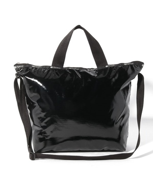EASY CARRY TOTE ブラックパテントシル