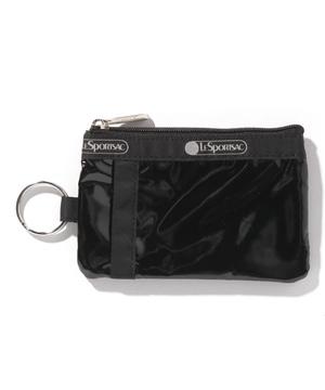ID CARD CASE ブラックパテントシル