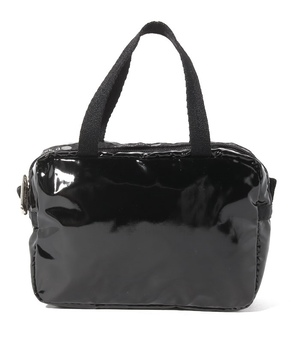 MICRO BAG ブラックパテントシル