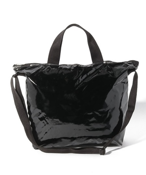 DELUXE EASY CARRY TOTE ブラックパテントシル
