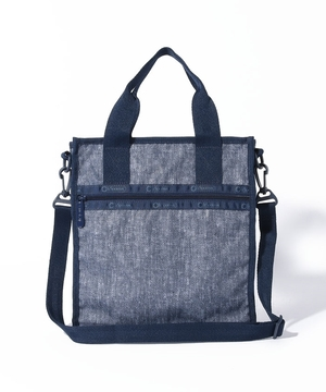 RE-SMALL N/S TOTE エコ シャンブレー ブルー