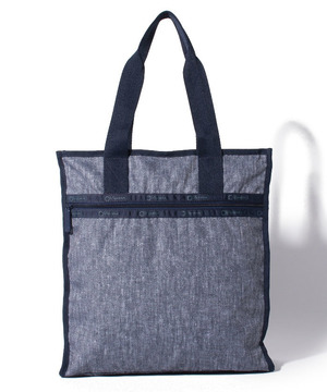 RE-LARGE N/S TOTE エコ シャンブレー ブルー