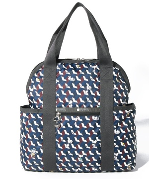 DOUBLE TROUBLE BACKPACKピーナッツジオメトリック