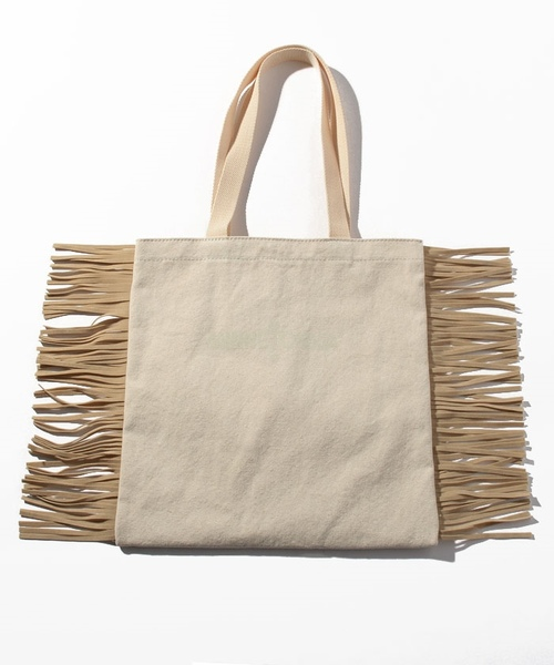 MT Fringe Tote Bag Off White【35701420】