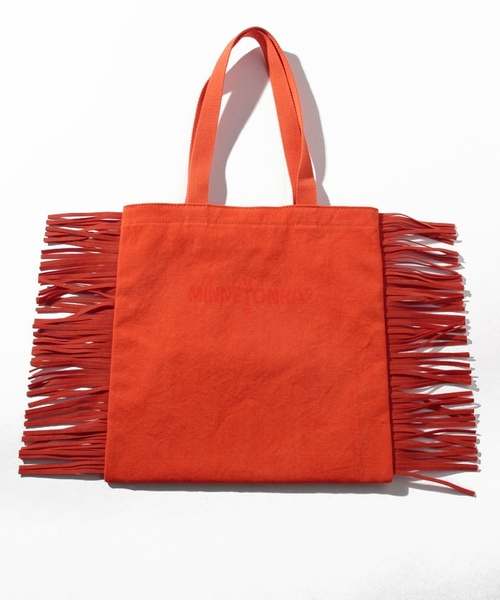 MT Fringe Tote Bag Orange【35701421】