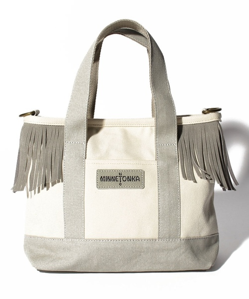 MT Fringe Canvas Tote Off White【35701430】
