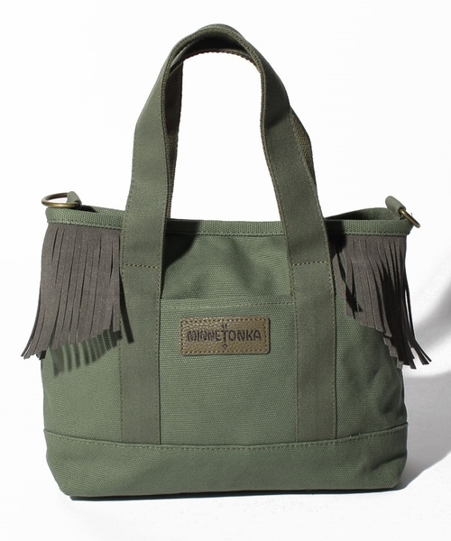 MT Fringe Canvas Tote Khaki【35701431】