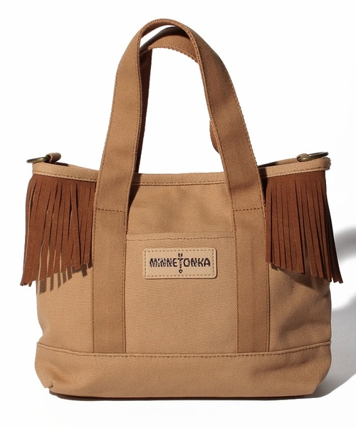 MT Fringe Canvas Tote Beige【35701432】