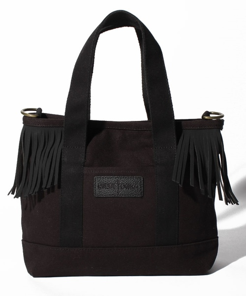 MT Fringe Canvas Tote Black【35701433】