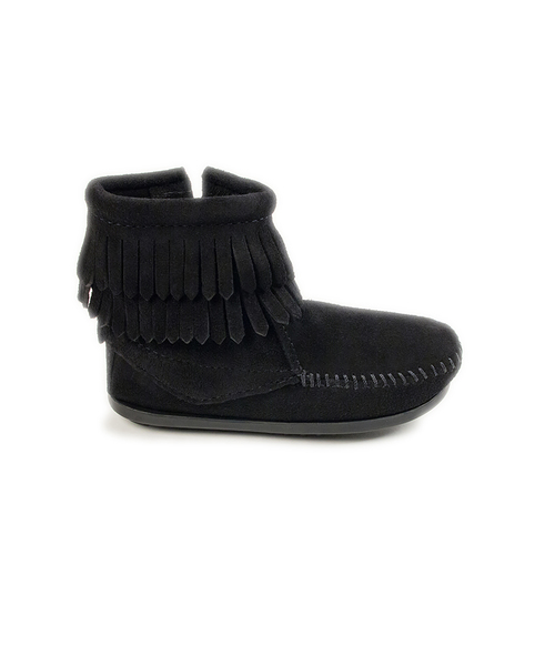 DOUBLE FRINGE SIDE ZIP BOOT Black【37115015】