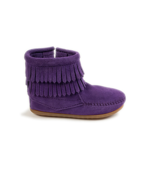 DOUBLE FRINGE SIDE ZIP BOOT Purple【37115011】