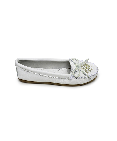 DEERSKIN BEADED MOC White【37110048】