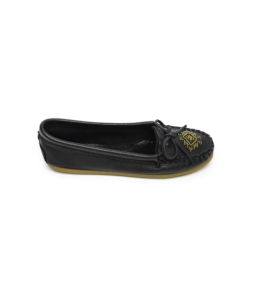 DEERSKIN BEADED MOC Black【37110051】