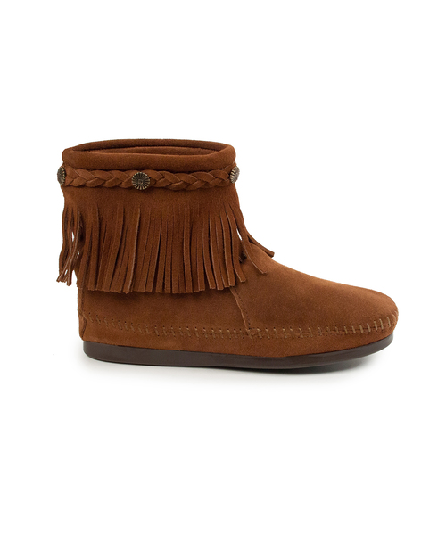 HI TOP BACK ZIP BOOT Brown