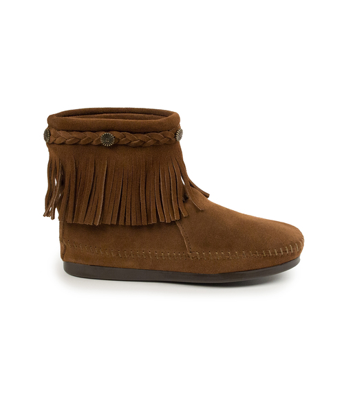 HI TOP BACK ZIP BOOT Dusty Brown