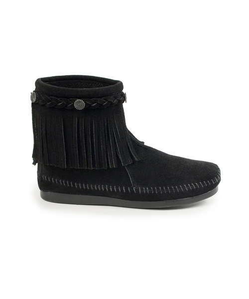 HI TOP BACK ZIP BOOT Black【37111032】
