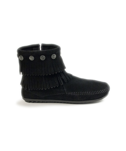 DOUBLE FRINGE SIDE ZIP BOOT Black【37111027】