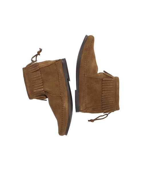 BACK ZIP BOOT Dusty Brown【37111002】
