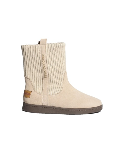 RIB KNIT BOOTS LightBeige【35701552】