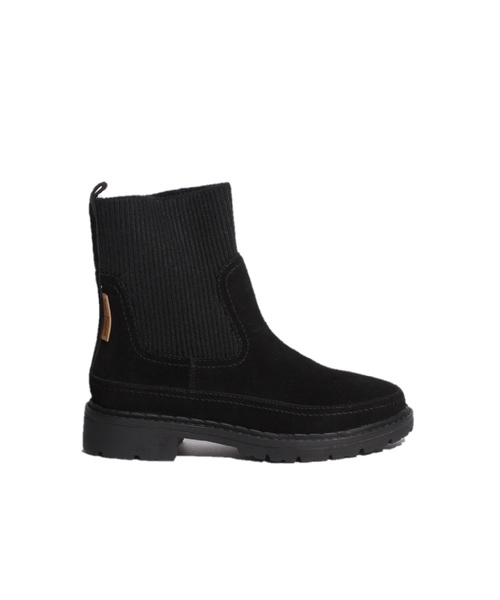 RIB KNIT X TANK SOLE BOOTS Black【35701560】